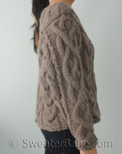 knitting pattern photo for #165 Ultimate Chunky Cabled Sweater