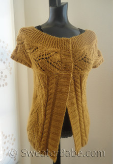 photo of extra spicy mustard cardigan knitting pattern