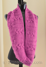 rose cabled circular scarf knitting pattern