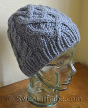 #183 One-Ball Cabled Beanie knitting pattern