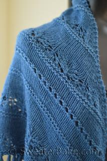 sapphire lace shawl knitting pattern