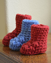 chunky crochet baby booties pattern