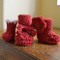 embellished samples of crochet booties - instructions included in pattern