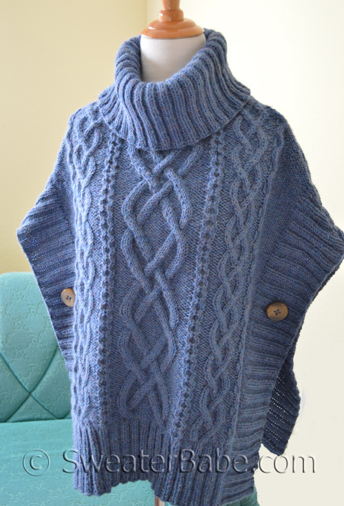 Free Knitting Pattern For A Poncho : Knit Poncho Pattern Pdf Knitting Pattern