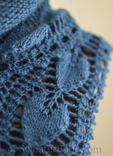 Open Hearts Shawlette knitting pattern