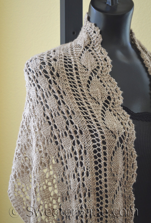 Knitting Patterns For Scarves On Pinterest : PDF Knitting Pattern for Abbot Kinney Scarf/Shawl from SweaterBabe.com
