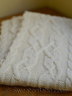 double creme brie cabled scarf pdf knitting pattern