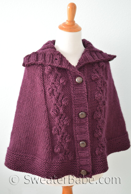 Floral Top-Down Cape Knitting Pattern