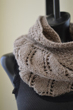 tiered eternity scarf knitting pattern
