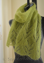 chalice one-ball scarf knitting pattern