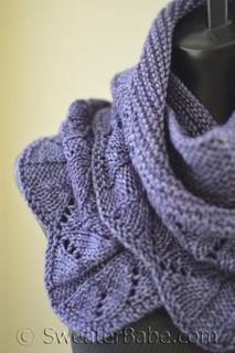 hillside blooms shawlette knitting pattern