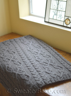 Threaded Cable Throw Knitting Pattern