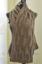 sprangle cable scarf knitting pattern