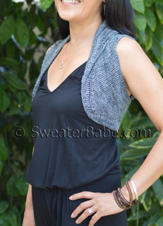 shawl-collared shrugette knitting pattern