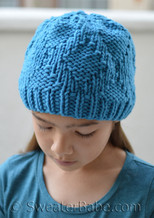 easy lattice hat knitting pattern