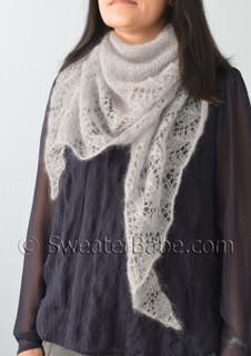 glitz and glam pdf knitting pattern worn as a scarf