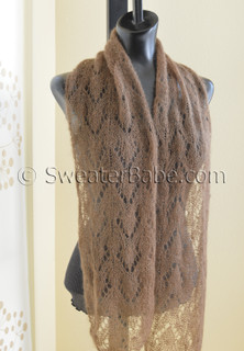 adina one-ball scarf knitting pattern