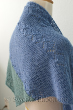 sea glass shawl knitting pattern