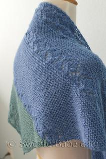 sea glass shawl knitting pattern