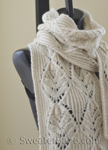 double orchid scarf (shown) or stole knitting pattern