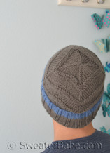 dreamcatcher hat knitting pattern, non-lace version