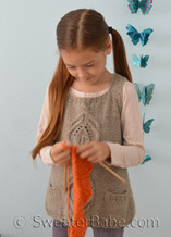 kiana cabled vest knitting pattern for girls