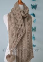 bias ribbon scarf pdf knitting pattern