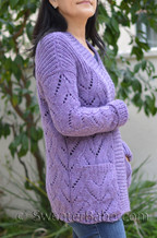 lavender cardigan knitting pattern