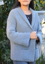 knitster car coat knitting pattern