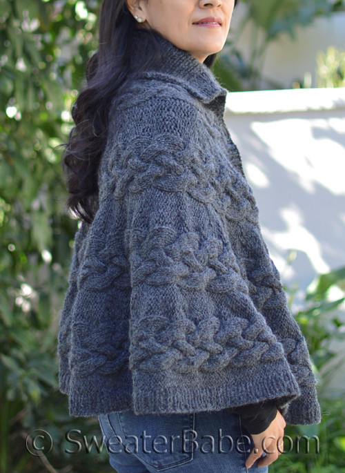 Pdf Knitting Pattern For Chunky Knit Poncho From Sweaterbabe