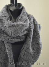 fleur crescent shawl knitting pattern