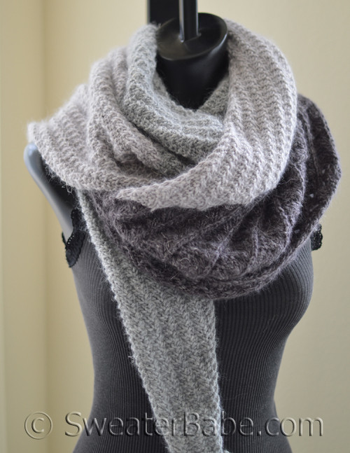 Pdf Knitting Pattern For Karrisa Shawl From Sweaterbabe