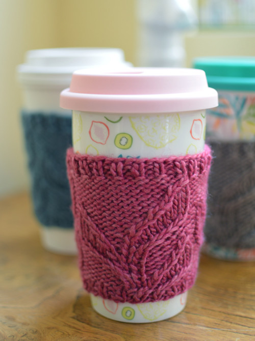 Pdf Knitting Pattern For Leaf Me Be Coffee Sleeve From Sweaterbabe