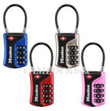 Master Lock TSA-Accepted Luggage Lock/Flexible Shackle (Resettable Word Combination 4697DWD)