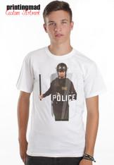 RIOT POLICE   comical  funny mens   tshirt