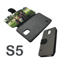 Galaxy s5 leatherette Flip photo phone case