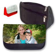 Personalised photo red or black pencil case makeup bag