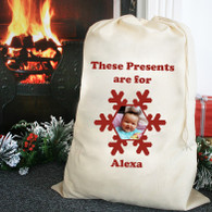 christmas sacks personalised photo  Gift Present bags giant xl or large