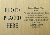 Metal Brushed Brass memorial remembrance plaque