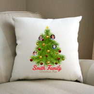 Christmas Tree Personalised photo cushion / small pillow Perfect Gift
