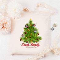 Christmas Tree PERSONALISED  Gift Canvas Tote Bag