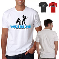 adult mens tshirts drinking funny nightout holiday stagnight personalised work is the curse