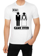 stag night tshirt game over child and wedding