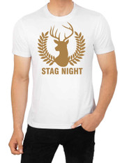 stag night tshirt GOLD stag perry