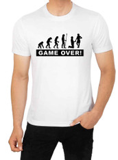 stag tshirt game over evolution of marriage funny tshirt