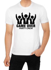stag tshirt game over party crew