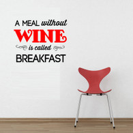 wallart a meal without wine is called breakfast ideal for kitchen livingroom bedroom shop