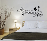 ★LOVE MAKES OUR HOUSE A HOME★ Wall Art Sticker Decal Mural★