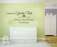 ★a dream is a wish your heart makes and our dream was you personalised ★ Wall Art Sticker Decal Mural★