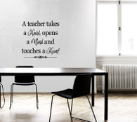 ★a teacher take a hand opens a mind ★ Wall Art Sticker Decal Mural★